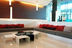Lobby interior. A contemporary lobby in a hotel Royalty Free Stock Photo