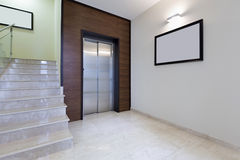 Lobby interior with elevator door Stock Photography