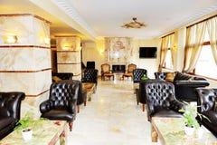 Lobby interior of the luxury hotel Royalty Free Stock Photos