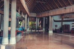 Lobby interior of luxury hotel reception. Luxury hotel reception interior . lobby interior of hotel hall. Interior of tropical hotel lobby, travel background stock photos