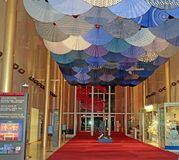 The Kennedy Center, Washington, DC. Lobby of the Kennedy Center in Washington, DC.where many types of shows perform royalty free stock image