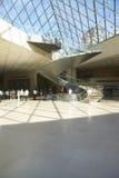 Lobby louvre muzeum, Paryż, Francja Zdjęcia Stock