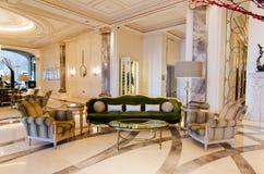 Lobby luksusowy hotel Zdjęcia Royalty Free