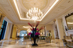 Lobby of luxury hotel Royalty Free Stock Images