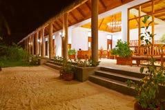 Lobby on Maldives island Royalty Free Stock Photo