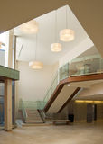 Lobby in a modern building. Warm toned lobby in a modern industrial building Stock Images