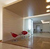 Lobby of a modern building. Lobby with furniture. Modern building Stock Images