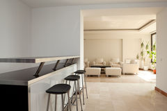 Lobby of a modern building. Lobby with furniture. Modern building Stock Photography
