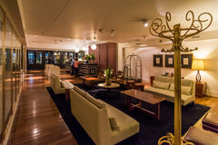 Lobby of modern hotel with coat stand Royalty Free Stock Photos