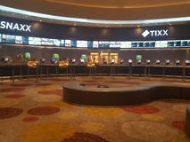 Lobby movie theater royalty free stock photos