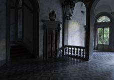 Lobby in the old florentine palace Royalty Free Stock Image