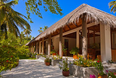 Lobby på den Maldiverna ön arkivfoton