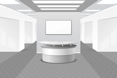Lobby or reception interior Stock Images