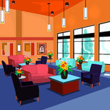 Lobby. A lobby that is relaxing and comfortable while waiting for an appointment Stock Photography