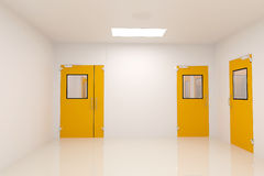 Lobby room. Clean Room in pharmaceutical factory Royalty Free Stock Photo