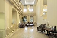 Lobby with sitting area Royalty Free Stock Photo