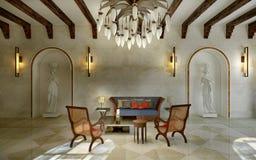 Lobby spa oriental style Royalty Free Stock Image