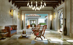 Lobby spa oriental style Royalty Free Stock Photo