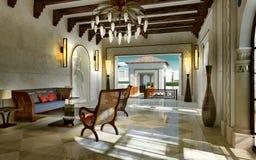 Lobby spa oriental style Stock Photos