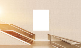 Lobby staircase with poster Royalty Free Stock Photo