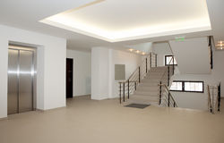 Lobby and stairs. Of a modern building Stock Photos