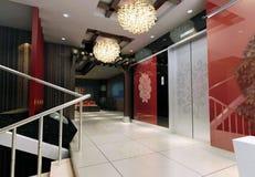 lobbyframförande för hiss 3d Arkivbilder