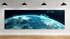 Lobbyroom con vídeo de la lona almacen de video