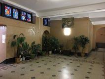 Lobbys de bâtiment sur Brighton Beach Hanukkah Celebration Images libres de droits
