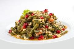 Lobio des haricots verts d'un plat blanc photo libre de droits