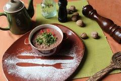 Lobio - ein Teller der georgischen Küche Stockfotografie