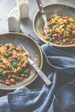 Lobio georgiano tradicional de la comida fotografía de archivo