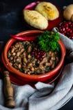 Lobio georgiano tradicional del plato imagen de archivo libre de regalías