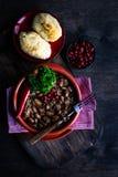 Lobio georgiano tradicional del plato fotos de archivo