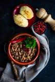 Lobio georgiano tradizionale del piatto fotografia stock libera da diritti