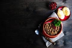 Lobio georgiano tradizionale del piatto fotografia stock