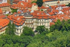 Lobkowiczpaleis, Panorama van Praag, Tsjechische Republiek Stock Fotografie