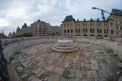 Lobnoye Mesto, endroit d'exécution Grand dos rouge moscou image libre de droits