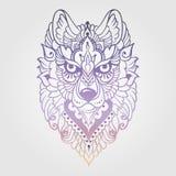 Lobo étnico tribal ilustración del vector