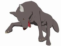 Lobo 2 do estilo dos desenhos animados imagens de stock royalty free