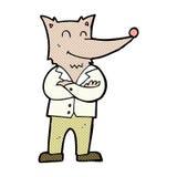 lobo cómico de la historieta en camisa Fotografía de archivo libre de regalías