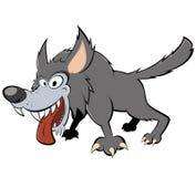 Lobo cinzento assustador Imagem de Stock Royalty Free