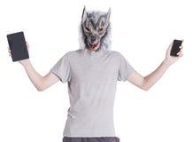 Lobo com tecnologia Imagens de Stock Royalty Free