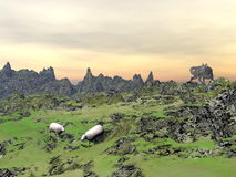 Lobo da caça - 3D rendem Fotos de Stock Royalty Free