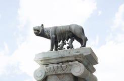 Lobo de Capitoline en Roma, Italia imagenes de archivo