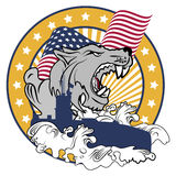 Lobo de mar - emblema Fotografia de Stock Royalty Free
