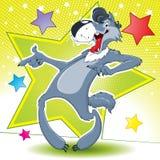 Lobo del baile Fotografía de archivo libre de regalías