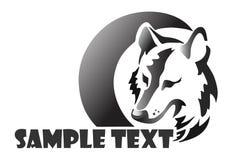 Lobo del logotipo Imagen de archivo