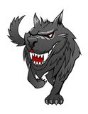 Lobo del peligro stock de ilustración