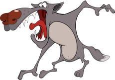 Lobo. Desenhos animados ilustração royalty free