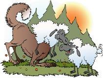 Lobo disfarçado em um terno dos carneiros Fotografia de Stock Royalty Free